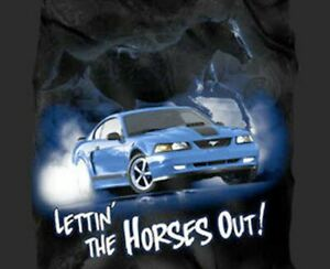 Lettin' the Horses Out! Mach 1 Mustang T-Shirt - Exclusive! Last Ones! FREE SHIP