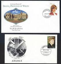 BRITISH COMM 1948 TEN DIFF FDCs FROM 10 DIFF COUNTRIES IN MEMORY OF PRINCESS DIA