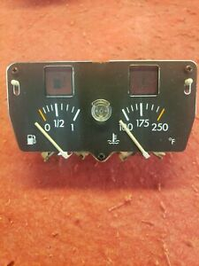 86-89 Alfa Romeo Spider Fuel and Water Temp Guage Combo. OEM. 607-23367. New.