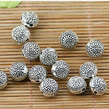 8pcs tibetan silver plated 2sided delicate nice beads EF1773
