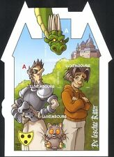 Lussemburgo 2011 CAVALIERE/DRAGO/Galagidae/Castello/cartoni animati/fumetti 4v S/A M/S (lu10145e)