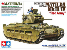 TAMIYA  1:35 KIT CARRO ARMATO INFANTRY TANK MATILDA MK.III/IV RED ARMY ART 35355