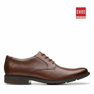 Clarks BECKEN LACE Brown Mens Lace-up Dress/Formal Leather Shoes