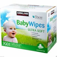 Kirkland Baby Wipes Tencel Ultra Soft Alcohol & Dye 900ct. CHEAPEST BABY WIPES