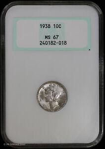 1938 10C Silver Mercury Dime NGC MS 67 | Uncirculated BU