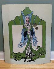 1965 Painting on board. Art Nouveau Mod Virgin Mary?