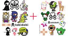 2pcs Tokidoki Cartoon Snowboard Luggage Car Bike Vinyl Stickers 64-65