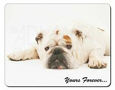 White Bulldog 'Yours Forever' Computer Mouse Mat Christmas Gift Idea, AD-BU9M