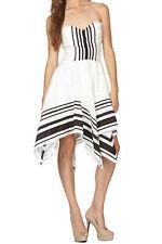NEW Stella & Jamie Mirage sweetheart dress, black / white Size M RRP £199