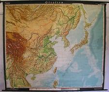Scheda crocifissi Mappa Muro Cartina a rotelle Asia Asia Orientale Cina schulkarte carta 223x191