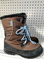 Kamik Brooklyn Womens Insulated Waterproof Winter Snow Boots Size 9 Brown Blue
