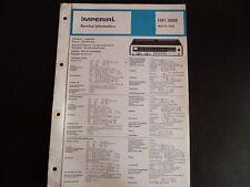ORIGINALI service manual Imperial Hi-Fi 3000