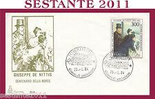 ITALIA FDC CAPITOLIUM 517 GIUSEPPE DE NITTIS ANNULLO MATERA H384