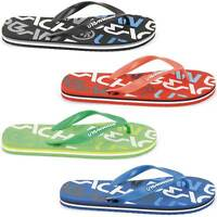 MENS URBAN BEACH FLIP FLOPS SANDALS SIZE UK 6 - 11 POOL SEA SWIM LOGO FW548
