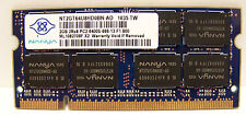 *NICE* Nanya 2GB DDR2 2RX8 PC2 6400S 666  Laptop Memory Ram NT2GT64U8HD0BN-AD