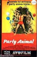 Party Animal (1988) VHS AVO film  1a Ed.  David Beaird Mattew Causey