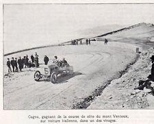 84 MONT VENTOUX MEETING AUTOMOBILISTE CAGNO VAINQUEUR DE LA COURSE IMAGE 1905