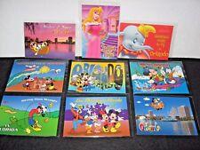 NEW LOT 9 Disney postcards Mickey Bambi Aurora Goofy Florida Orlando