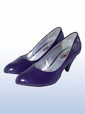 monella vagabonda snob donna decolte scarpe viola lucido pelle taglia 38