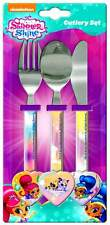 Shimmer and Shine 3-Piece Cutlery Set | Knife, Fork and Spoon | Dinnerware