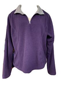 SJB ACTIVE Purple Long Sleeve Pullover SweatShirtSize XL