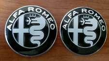 2 pcs BLACK Alfa Romeo emblem badge logo insignia 74mm for 147,155, 159, 166