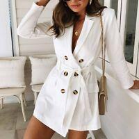US Winter Spring Womens Long Coat Jacket Trench Windbreaker Parka Outwear Tops
