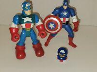 Lot of 3 Captain America Action Figure - Marvel random toys