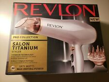 Revlon Salon 1875W Titanium Hair Dryer 3Heat/2Speed Settings Volumizing Diffuser
