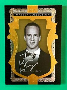 2016 UPPER DECK MASTER COLLECTION GOLD #4/20 FOOTBALL AUTO PEYTON MANNING BRONCO