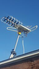 LONG RANGE OUTDOOR TV ANTENNA MOTORIZED AMPLIFIED HDTV HIGH GAIN 36dB UHF VHF