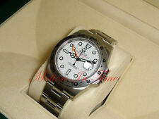 Rolex Explorer II 42mm Stainless Steel White Dial Orange Hand Oyster 216570 2015