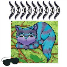 1 Alice In Wonderland Party Game PIN THE SMILE ON CHESHIRE CAT for 9 Guests