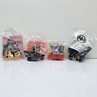 4 McDonald's Happy Meal Batman, Robin, Catwoman & Batmobile Toys 1991-1993