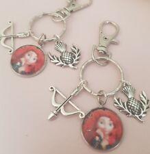 Brave Merida Bow Arrow Thistle Scotland Disney Hero Keyring Bag Charm Gift Tag
