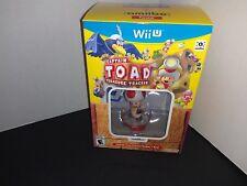 Captain Toad Treasure Tracker + Toad Amiibo Bundle  Nintendo Wii U NEW Sealed