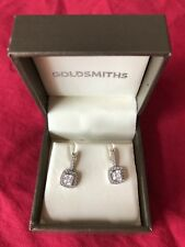 Goldsmiths earrings - 925 silver, cubic zirconia- excellent condition