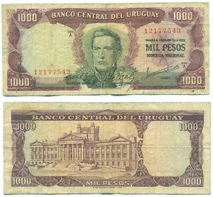 URUGUAY NOTE 1000 PESOS (1967) CR# 9A6 P 49
