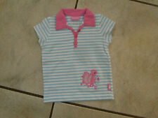§ Traum T-Shirt PAMPOLINA Gr.68 hellblau weiß pink Garden Feelings w.Neu