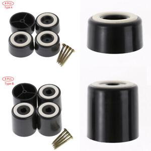 4 Stück Runder Kunststoff Erhöht Möbelbeine mit Schrauben Anti-Rutsch-Bodenschut