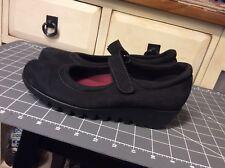 Women's Shoes Munro American Extra Light Walking Wedge Black Mary Jane Strap 7.5