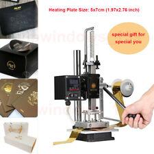 Hot Foil Stamping Machine Gold Embossing Logo Printing Gilding Press 5x7cm 110v