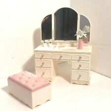 Vintage 1980s Sindy Doll Dressing Table  stool With Accessories