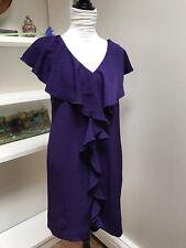 Women's Dress dressbarn Size 6 Ruffle Dark Purple