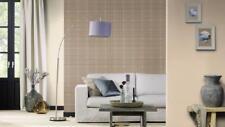 Tartan Checks Burberry Effect Wallpaper Beige Material Textile Vinyl 861723