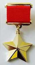 HERO OF THE SOVIET UNION Gold Star Medal USSR WWII Russian Replica