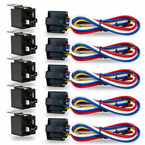12V Automotive On/Off SPDT Relay 40A 5 Pin Switching Relays for Car Van Motor