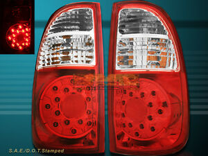 2005 2006 Toyota Tundra Tundra ACCESS Cab SR5 Red Clear LED Tail Lights NEW