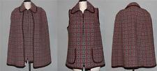 2 Pc VTF Welsh Woollens Geometric Brn Tapestry Cape & Vest Wms L Appears UNWORN