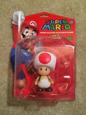 "SUPER MARIO ""TOAD"" 5 inch FIGURINE COLLECTION NINTENDO 2009 MOC ACTION FIGURE"